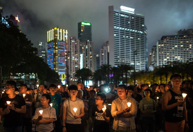 Image: Annual vigil for Tiananmen Square massacre