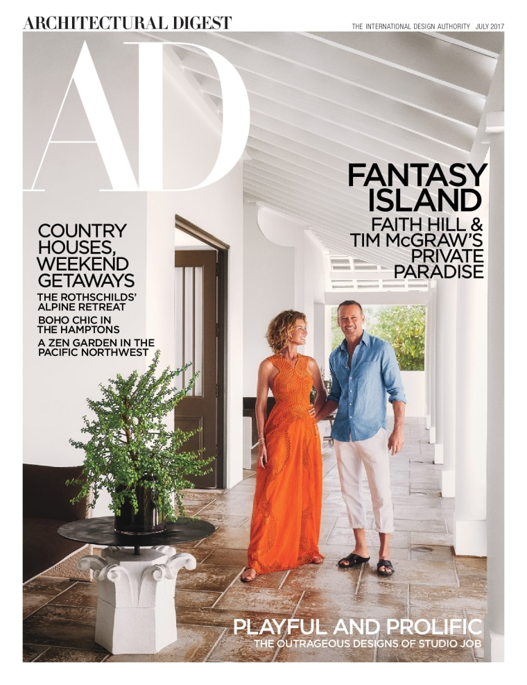 Faith Hill, Tim McGraw on July cover of Architectural Digest