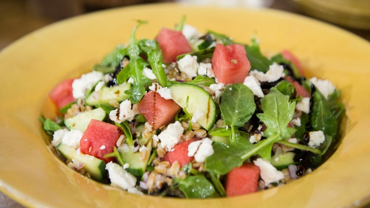 Farro Arugula Watermelon Salad