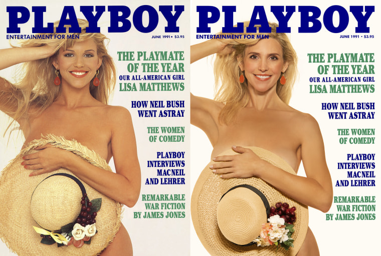 Lisa Matthews, who was 1991's Playmate of the Year.