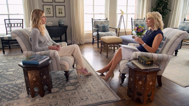 Erin Andrews speaks with NBC's Megyn Kelly