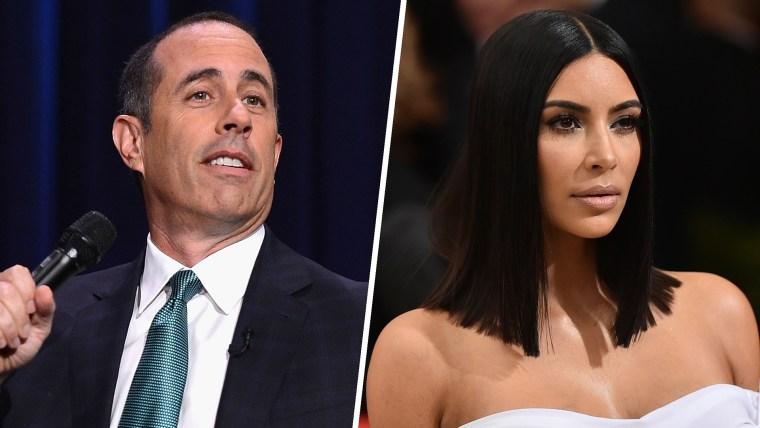 Jerry Seinfeld and Kim Kardashian
