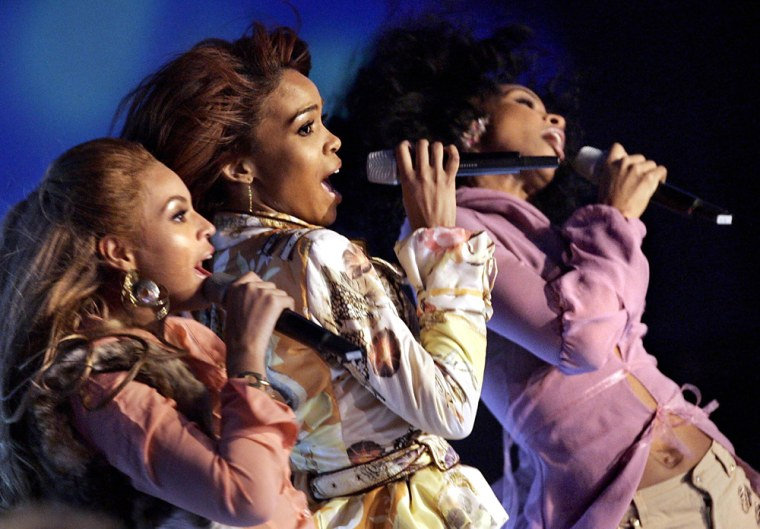 Pop group Destiny's Child of the US perf