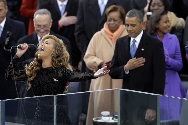 Image: Beyonce. Barack Obama