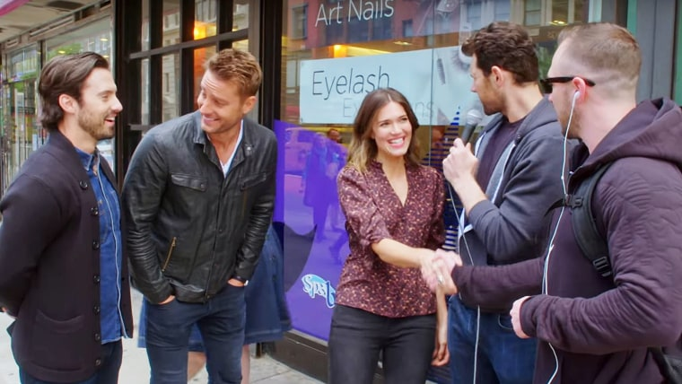 """Moore reacts to meeting Brian, the ambitious stranger who hit on her when she appeared on truTV's """"Billy On The Street."""""""