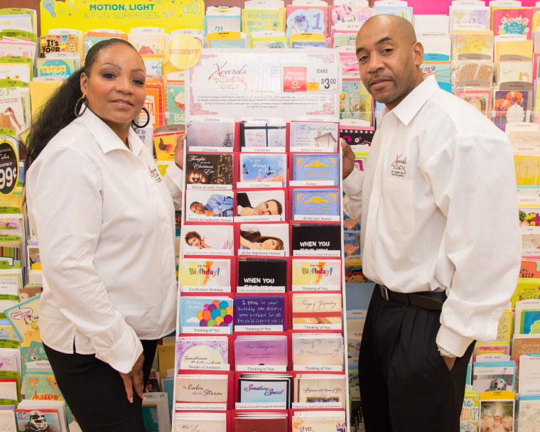 Ken and Wanda Bass at store