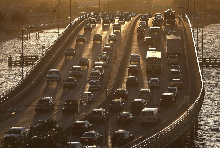 Image: Busy Travel Week Expected For Thanksgiving Holiday, As Low Gas Prices Encourage Driving