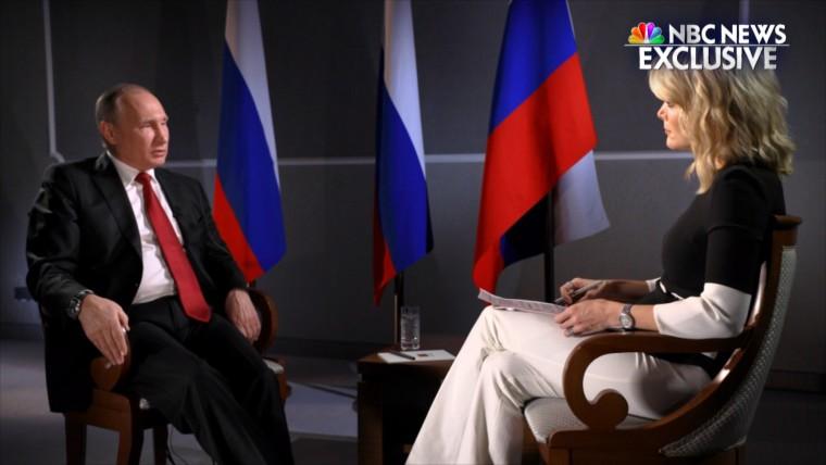 Vladimir Putin sits down with NBC News' Megyn Kelly