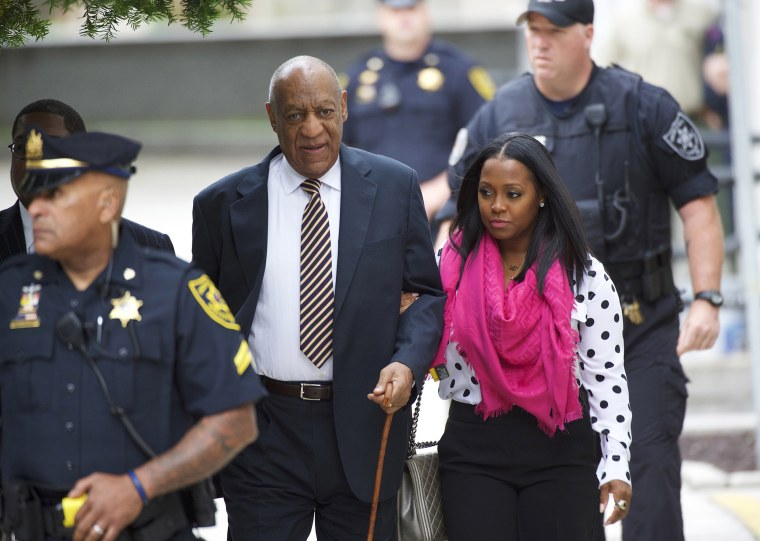 Image: Cosby arrives at court with actress Keshia Knight Pulliam