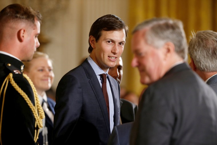 Image: White House Senior Adviser Jared Kushner arrives for President Donald Trump's announcement on an air traffic control initiative at the White House in Washington, June 5, 2017.