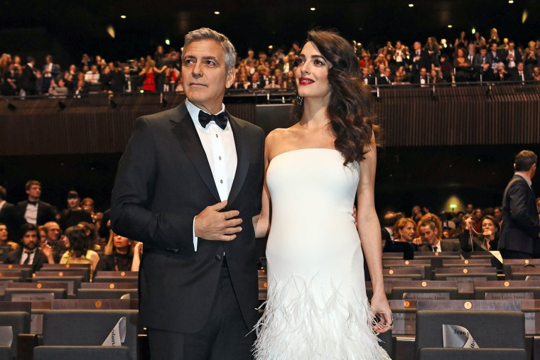 Image: George and Amal Clooney