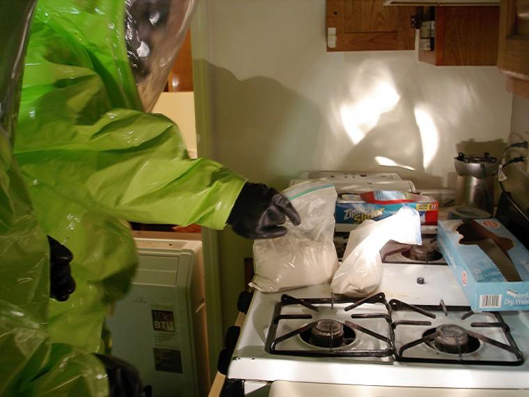 Image: Investigating a Suspected Fentanyl Crime Scene