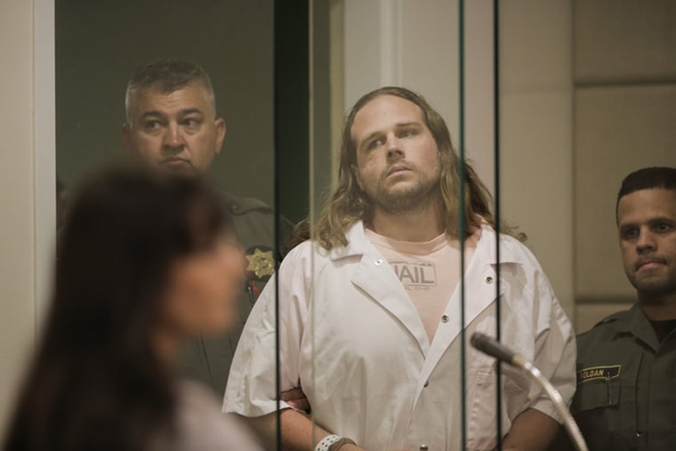 Image: Jeremy Christian enters for a court appearance