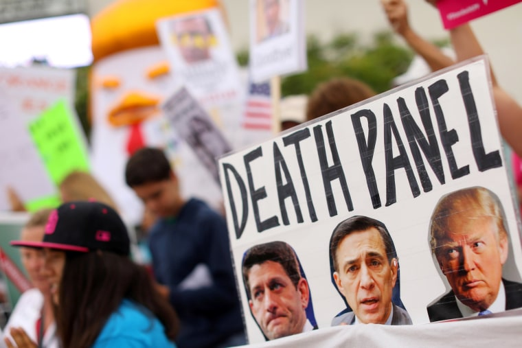 Image: Protesters Gather as Republican Congressman Darrell Issa Holds a Town Hall