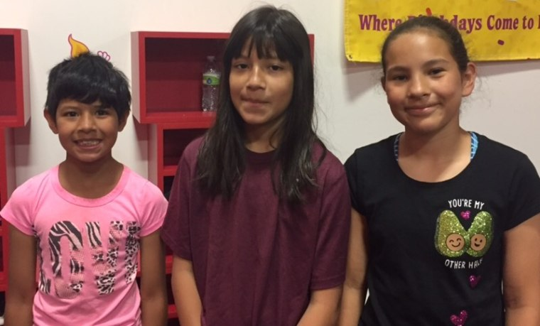 Mili, her sister Alina, and their friend/teammate Amory.