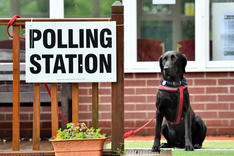Image: A polling station in Staybridge, England