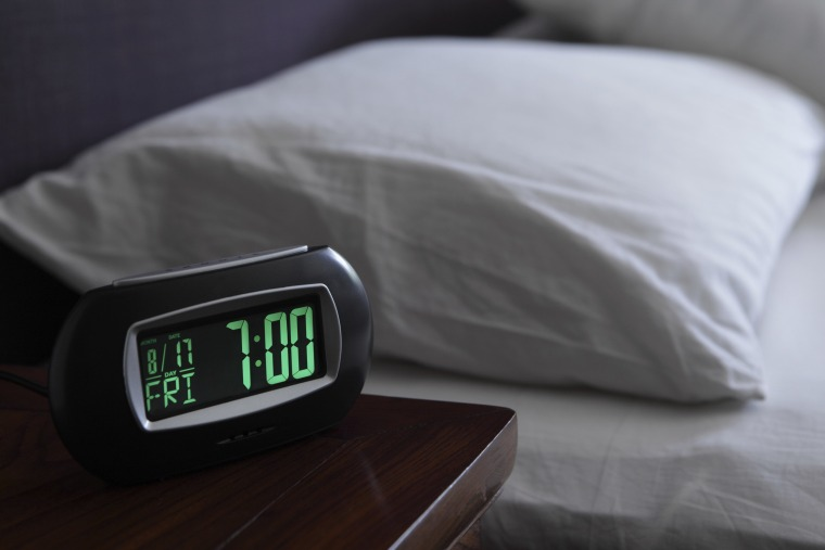 Image: Alarm clock by bed