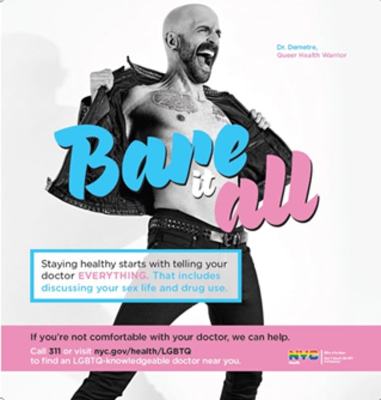 """Dr. Demetre Daskalakis featured in """"Bare It All"""" ad campaign."""