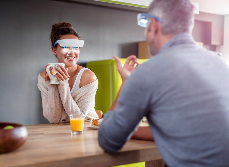 Image: Luminette light therapy glasses