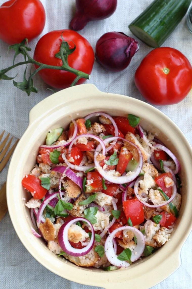 Image: Panzanella Tuscan-Style Tomato and Bread Salad