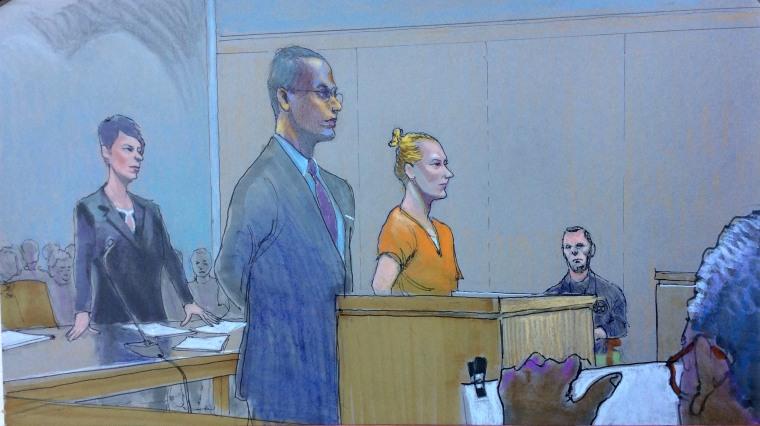 Image: Sketch of NSA Leaker Reality Leigh Winner Detention Hearing