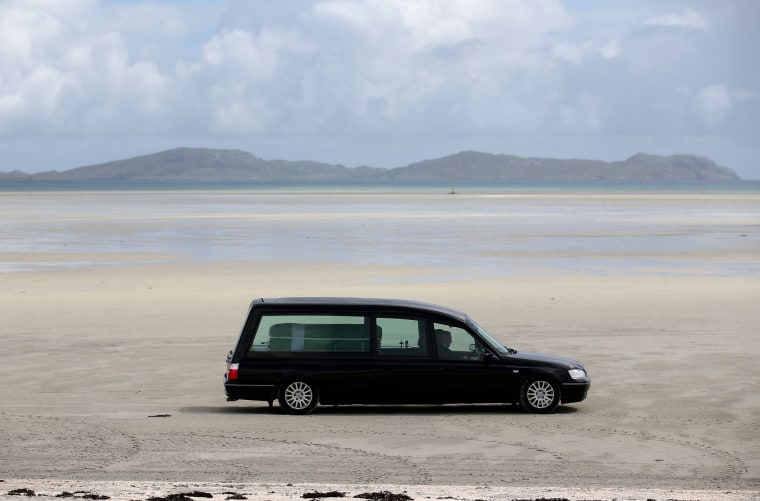 Image: ***BESTPIX*** ***BESTPIX*** Eilidh MacLeod's Funeral Held On Isle of Barra ***BESTPIX***