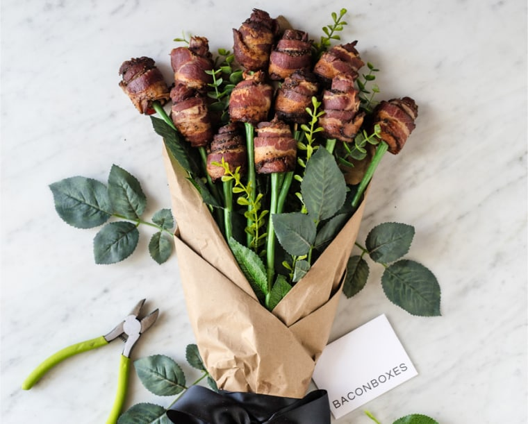 Image: A bacon bouquet by the company Bacon Boxes