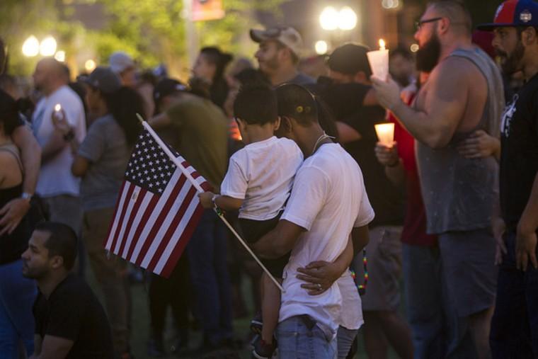 A family shows solidarity at Pulse Gathering.