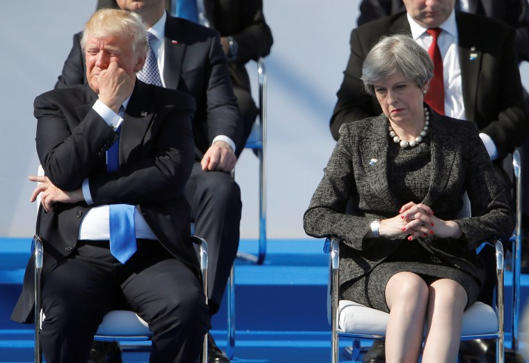 Image: President Donald Trump and Britain's Prime Minister Theresa May
