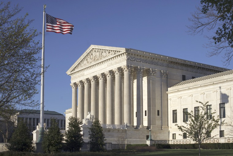Image: The Supreme Court Building is seen in Washington, April 4, 2017. The Supreme Court struck down two congressional districts in North Carolina on May 22, 2017, because race played too large a role in their creation.
