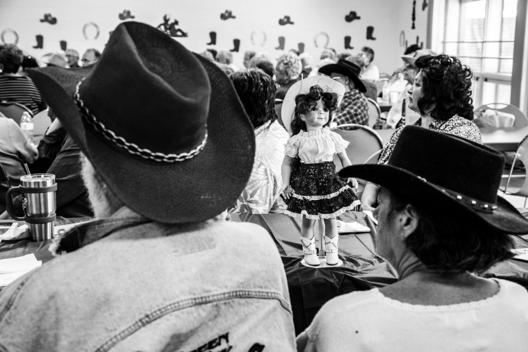 Image: Details at a charity auction at the Salvation Army in Dubuque.