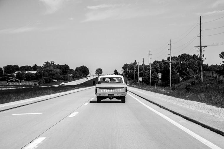 Image: Driving through the farm fields of Iowa.