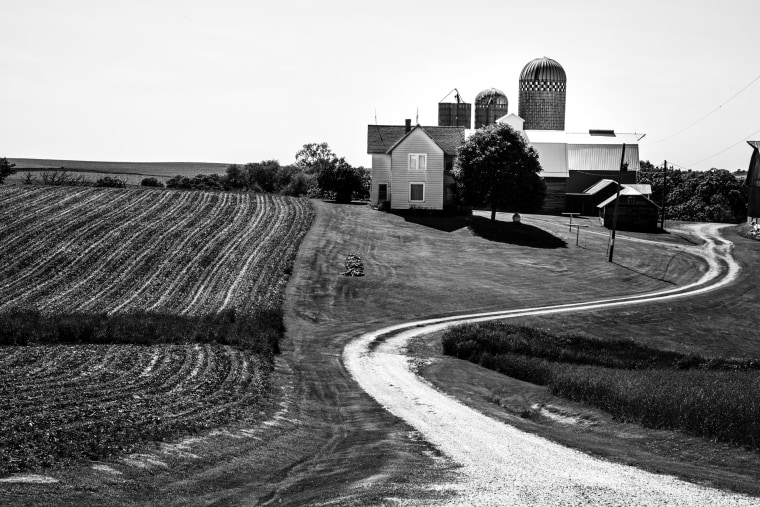 Image: View of a farm field in Cedar Rapids, Iowa-- part of Iowa's 1st Congressional District, which also includes Dubuque.