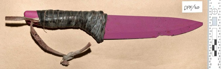 Image: A pink ceramic knife used in the London Bridge attacks
