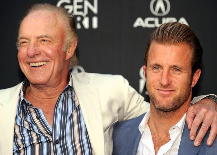 Actors James Caan and his son Scott Caan
