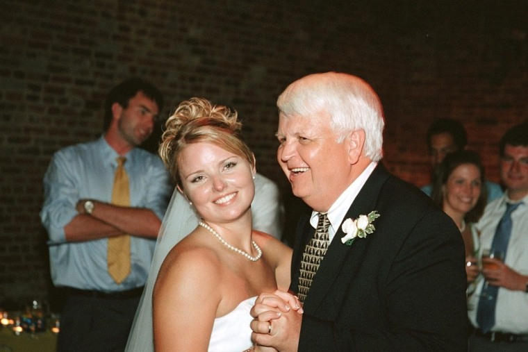 Sorensen with his stepdaughter, Shelley, on her wedding day.