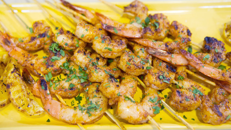 BBQ Skewered Shrimp