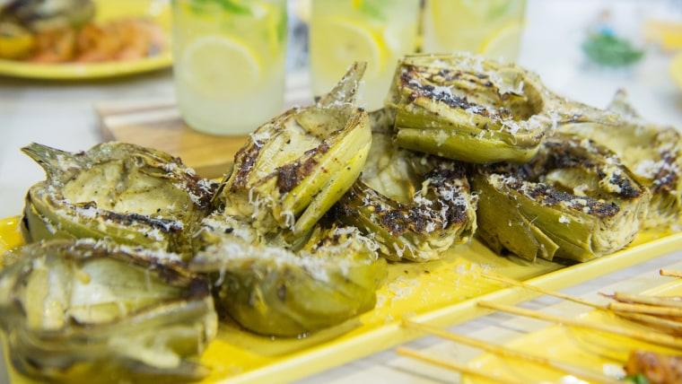 Grilled Parmesan & Garlic Artichokes