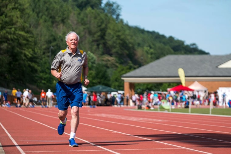Twice weekly Bill Brownson sprints through the hallways of the Freedom Village Holland Community. He hoped the running would help him place in the Senior National Games.