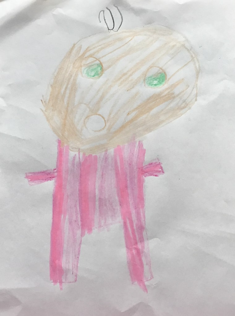 """My 6-year-old daughter's artist rendition of """"Daddy in his romper."""""""