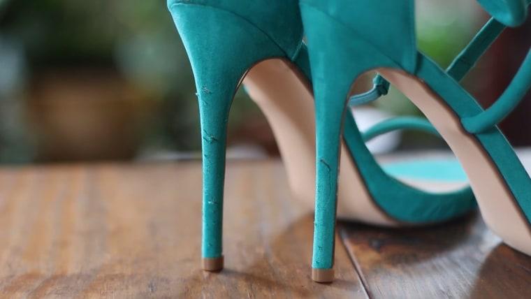 Fix scratched heels