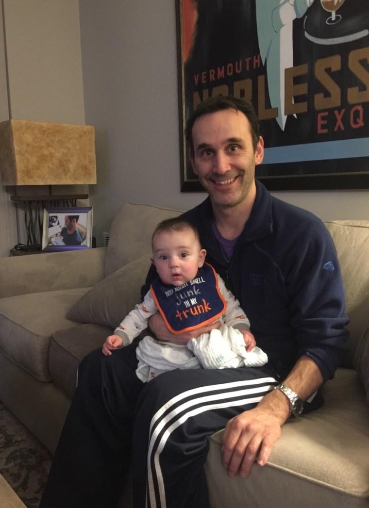 Tom Garden with his son, Joseph.