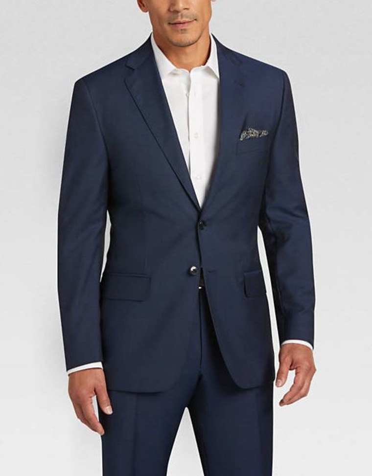Blue Tic Modern Fit Suit