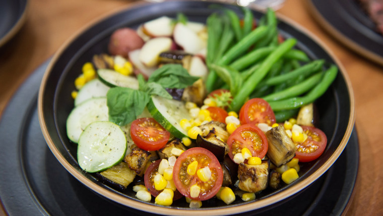 Summer Vegetable Salad with Tapenade and New Potatoes