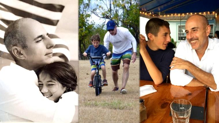 Matt Lauer and his children