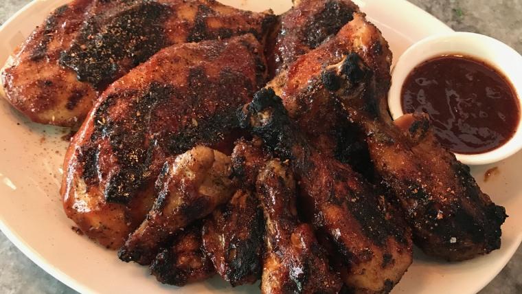 Grilled Chicken with Pig Beach BBQ Sauce