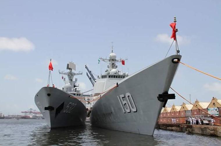 Image: Chinese warships arrive in Karachi, Pakistan