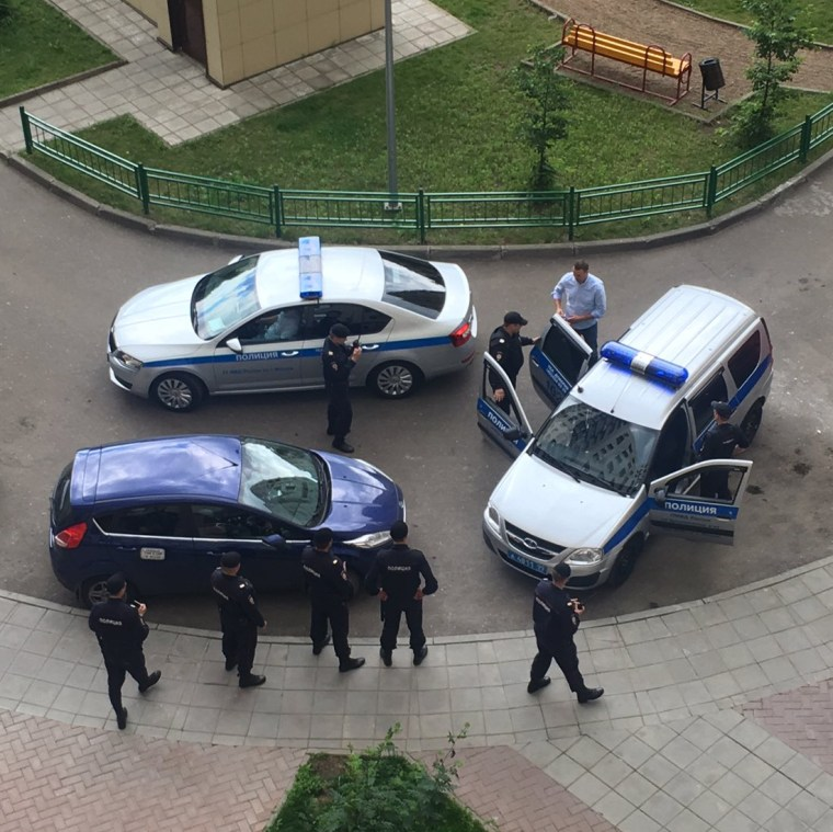 Image: Alexei Navalny is detained at his home in Moscow