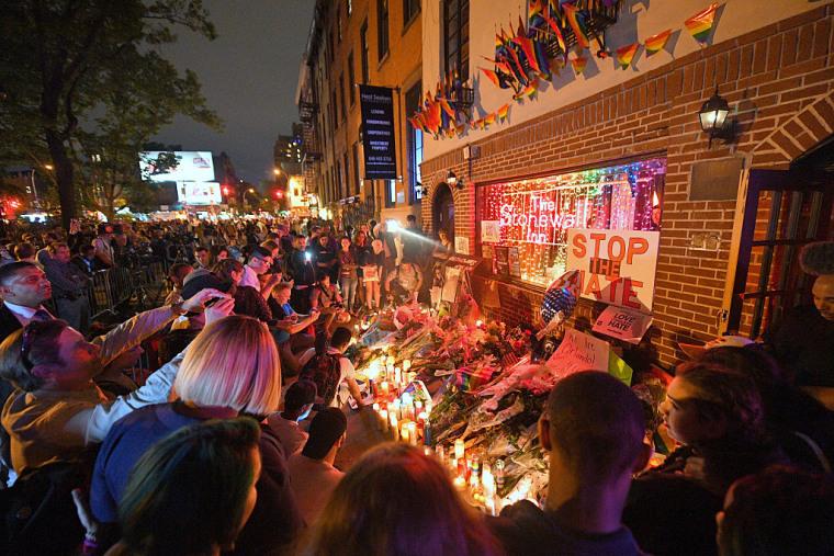Vigil Held At The Stonewall Inn For Orlando Shooting Victims