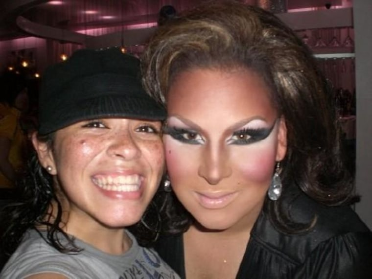 At Pulse in June of 2008 with Roxxxy Andrews who would later become a star on RuPaul's Drag Race.
